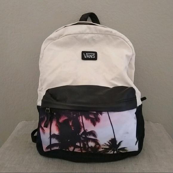 b9d03838803 Vans canvas school bag backpack palm trees black. M_5b8eae4d035cf13047d19580